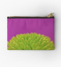 Green Button Spray Chrysanthemum Studio Pouch
