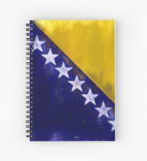 Bosnia And Herzegovina Flag Reworked No. 1, Series 1 Spiralblock