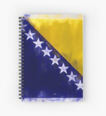 Bosnia And Herzegovina Flag Reworked No. 2, Series 1 Spiralblock