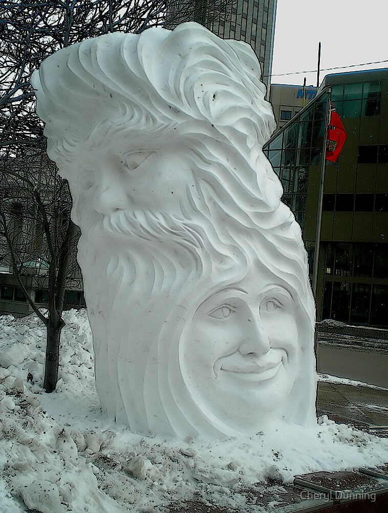 another snow sculpture by Cheryl Dunning
