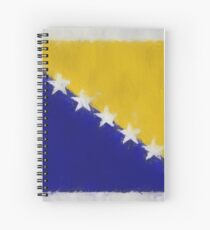 Bosnia And Herzegovina Flag Reworked No. 66, Series 3 Spiralblock