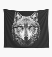 Wolf face Wall Tapestry
