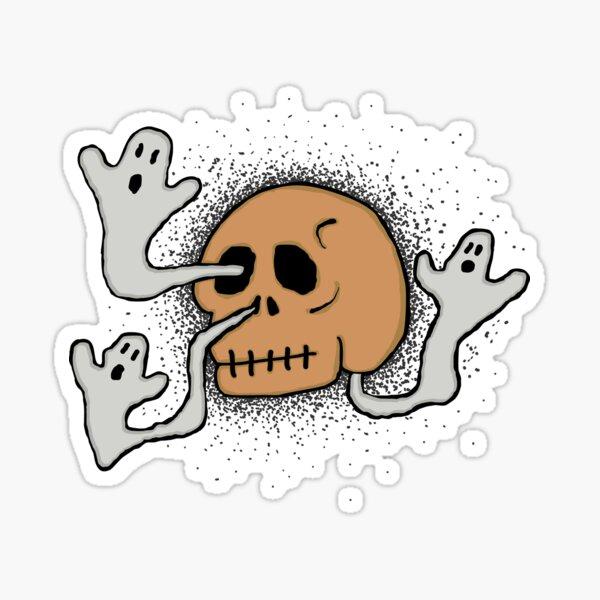 skull sneeze #2 Sticker