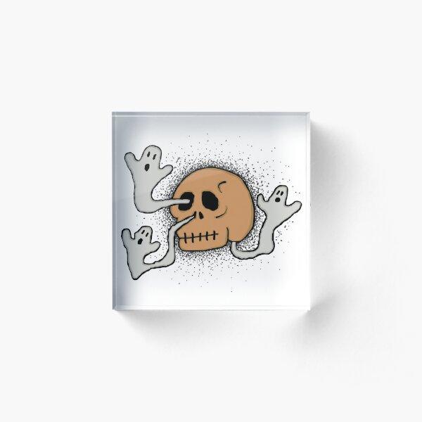 skull sneeze #2 Acrylic Block