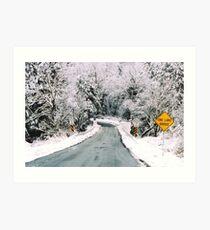 Winter in Rural Pennsylvania  Art Print