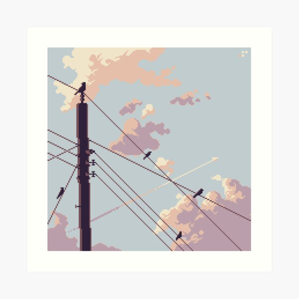 Birds and Electricity Art Print