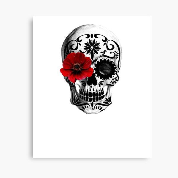 Sugar skull Day of the dead  Canvas Print