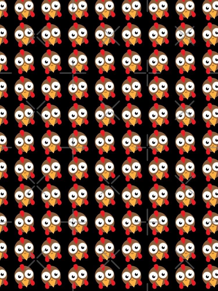 goggly eyed turkey face by jazzydevil