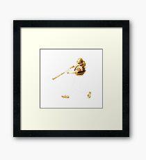 Golden Baseball Player Framed Print