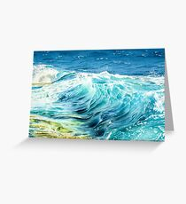 Crashing Waves Greeting Card
