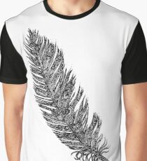 Doodling Feather Graphic T-Shirt