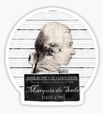 Marquis de Sade Sticker