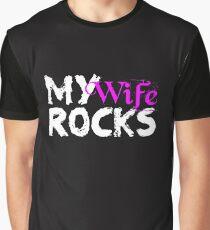 Meine Frau rockt große Ehe Liebe erobert alle Grafik T-Shirt