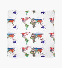 World Map by Flags Scarf