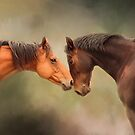 Best Friends - Two Horses by Michelle Wrighton