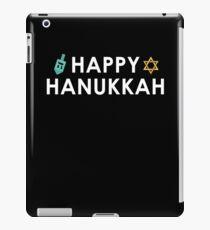 Happy Hanukkah Dreidel Star of David iPad Case/Skin
