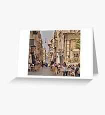 Cafe Culture Mediterranean Style Greeting Card