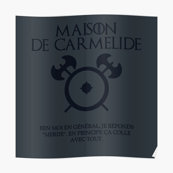 Maison de Carmélide - Kaamelott Poster