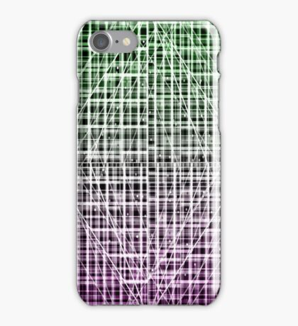 Space Plaid iPhone Case/Skin