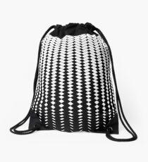 Carbon fibre metal effect Drawstring Bag