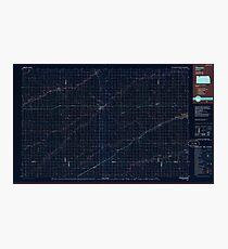 USGS TOPO Map Kansas KS Oberlin 801623 1985 100000 Inverted Photographic Print