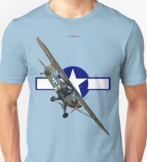 WW2 USAAF Roundel Design-Piper Sentinel 330119 T-Shirt