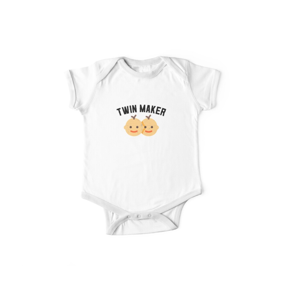 twin maker to be pregnancy announcement reveal shirt