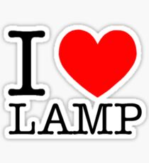 I love lamp Sticker