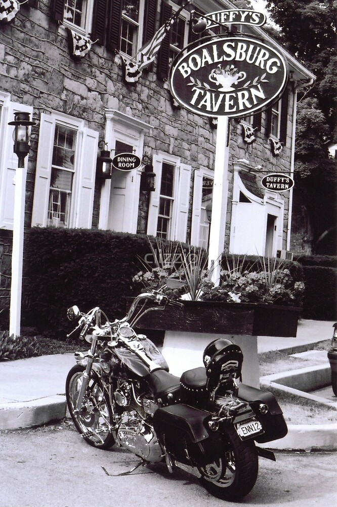 Harley at the Boalsburg Tavern by clizzio