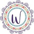 Monogramm-Buchstabe W | Personalisiert | Böhmisches Design von PraiseQuotes