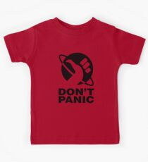 Don't Panic - Hitchhikers Guide Kids Tee