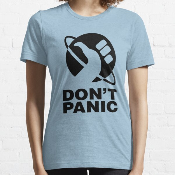 Don't Panic - Hitchhikers Guide Essential T-Shirt