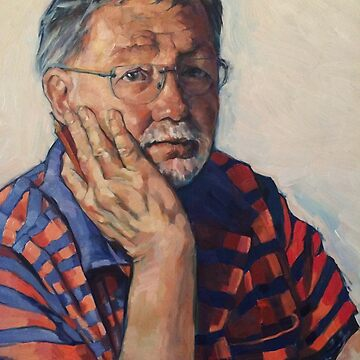 'Writer's block' oil on composition board 50x40cm framed.  by emgolding