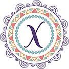 Monogramm-Buchstabe X | Personalisiert | Böhmisches Design von PraiseQuotes