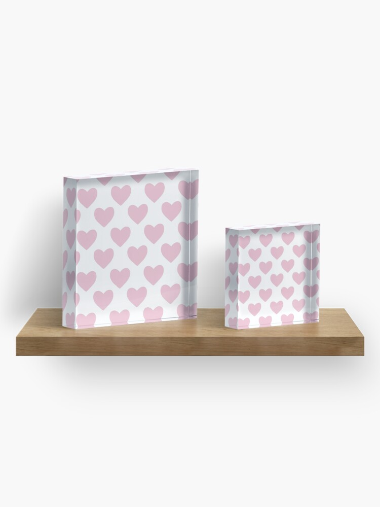 Alternate view of Pink Heart Pattern Acrylic Block