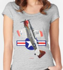 Post WW2 USAF Roundel-Texan VH-WHF 493203 Women's Fitted Scoop T-Shirt
