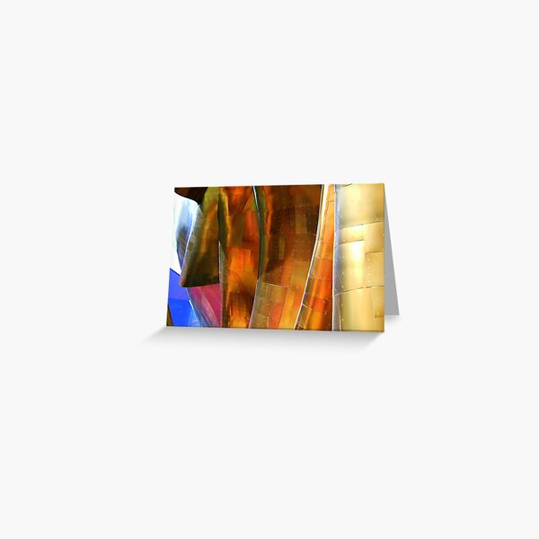 Waves of Gold Greeting Card