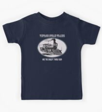 Vintage steam trains are the coolest thing ever - model train fan, trainspotter, Kids Tee