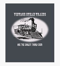 Vintage steam trains are the coolest thing ever - model train fan, trainspotter, Photographic Print