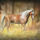 Gold in The Mist - Horse Photo Art by Michelle Wrighton