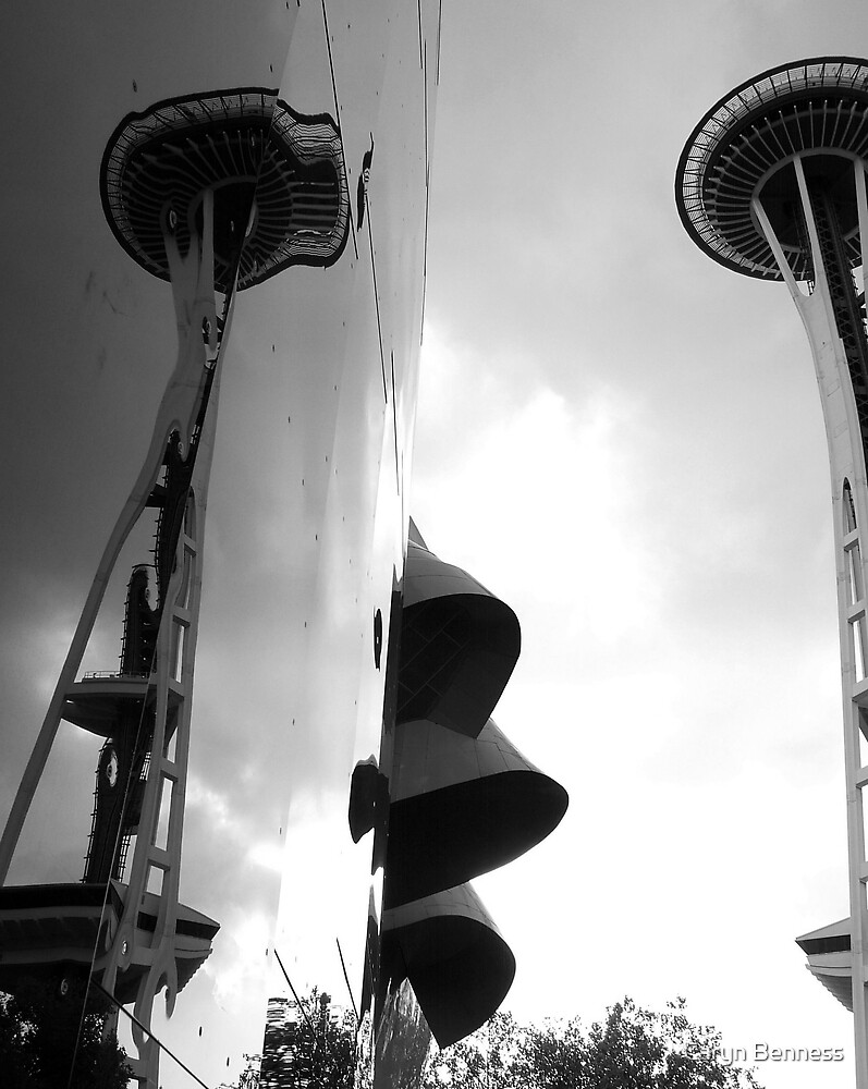 Seattle Space Needle by Caryn Benness