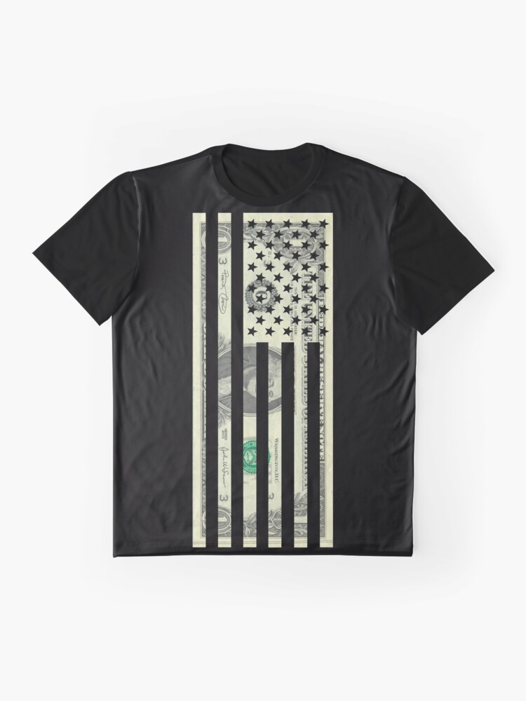 Alternate view of American Dollar Flag Graphic T-Shirt