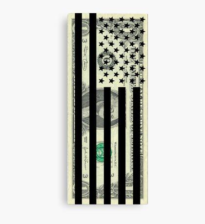 American Dollar Flag Canvas Print