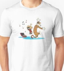 Calvin and hobbes Dance and Happy T-Shirt