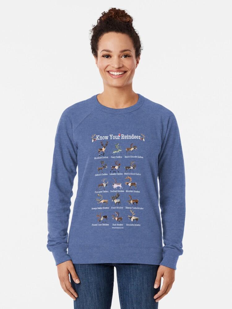 Alternate view of Know Your Reindeer Lightweight Sweatshirt
