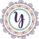 Monogramm-Buchstabe Y | Personalisiert | Böhmisches Design von PraiseQuotes