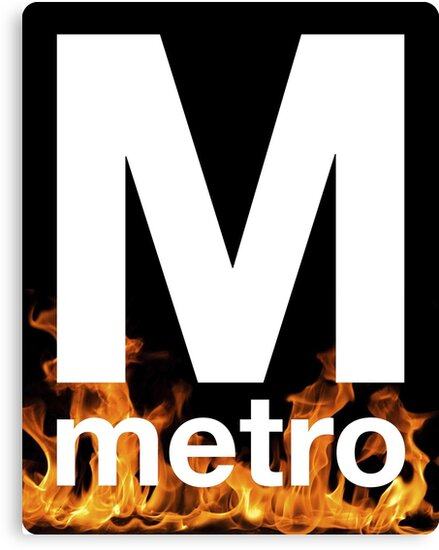 DC Metro on Fire Logo by Saadanius
