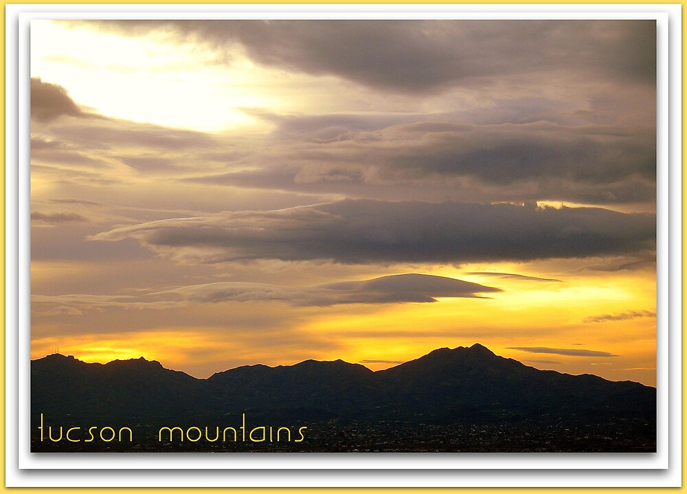 Sunset and the Tucson Mountains  by Terry Temple