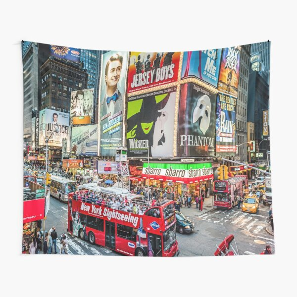 Times Square II widescreen Tapestry