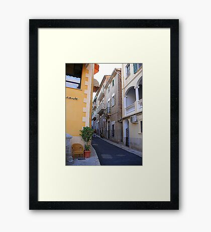 A Side Street In Soller...............................Majorca Framed Print
